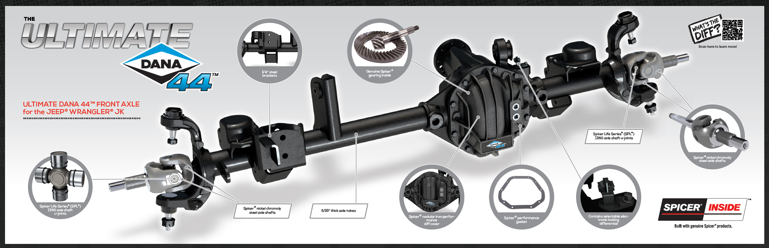 Ultimate Dana 44 Axle Details