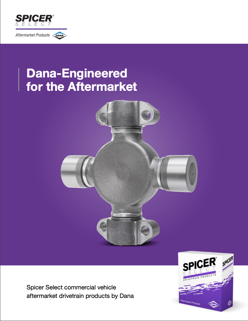 Spicer Select Commercial Vehicle Aftermarket Drivetrain Products by Dana