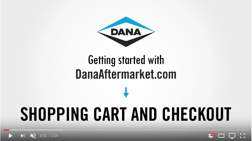 DanaAftermarket.com Shopping Cart and Checkout