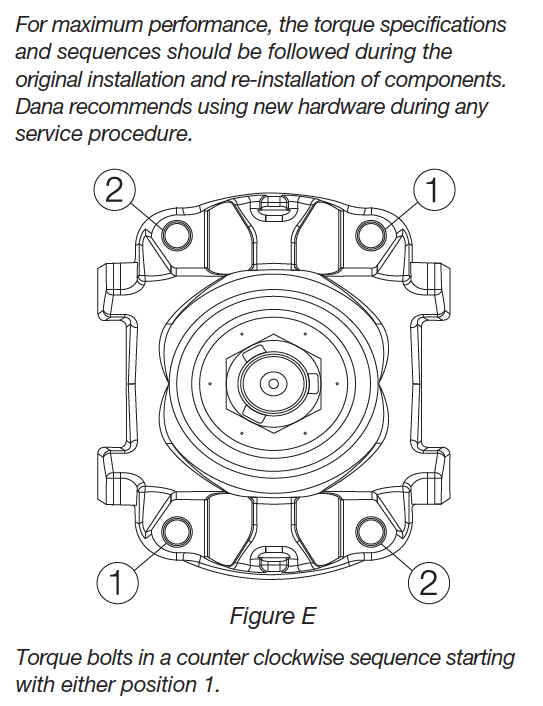 spicer u00ae driveshaft lube  u0026 torque specification
