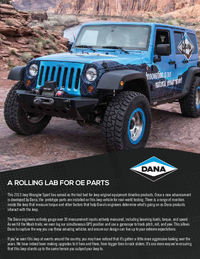 Dana Jeep Build List