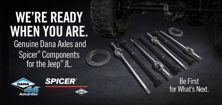 Spicer Components for the Jeep JL