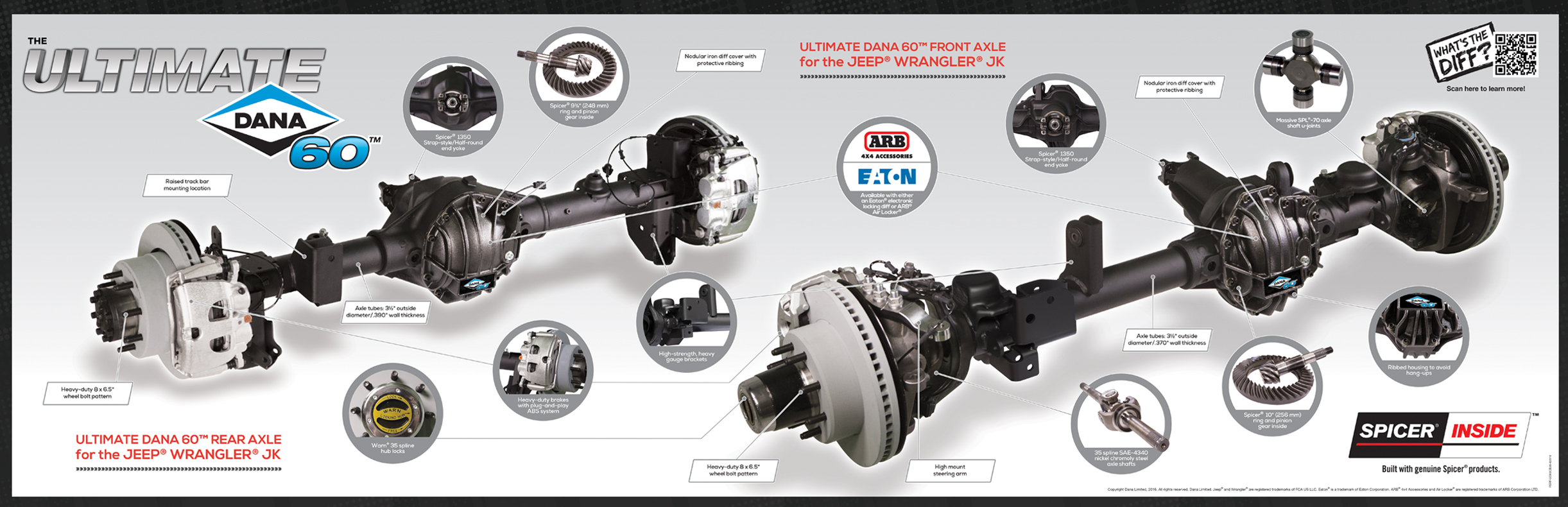 Jeep Front Axle And Housing Diagram Electrical Wiring End Ultimate Dana 60 U2122 For The U00ae Wrangler Jk Parts