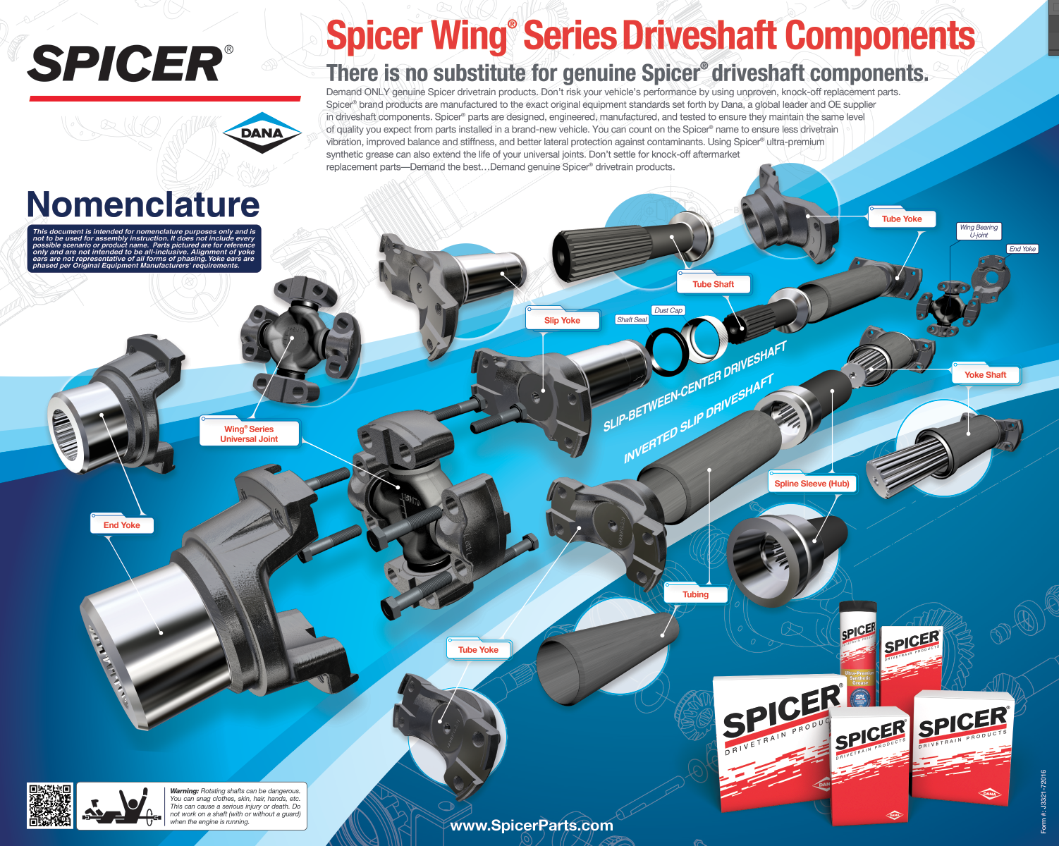 Spicer Wing® Series Products - Driveshaft | Spicer Parts